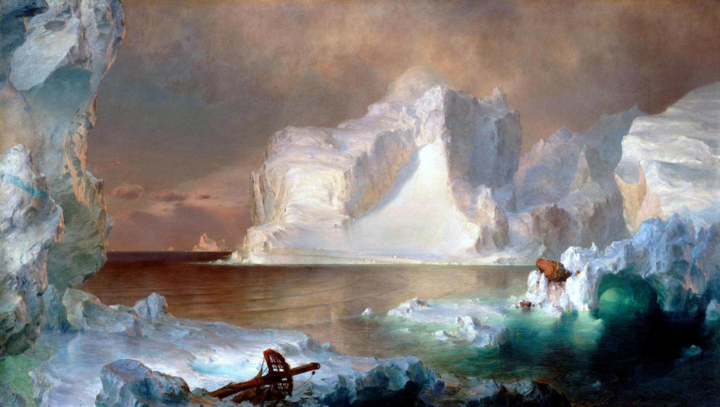 The Icebergs Painting Frederic Edwin Church Canvas Art