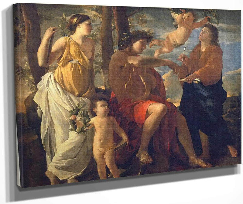 The Inspiration Of The Poet By Nicholas Poussin