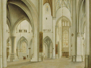 The Interior Of St. Bavo Haarlem By Pieter Jansz. Saenredam