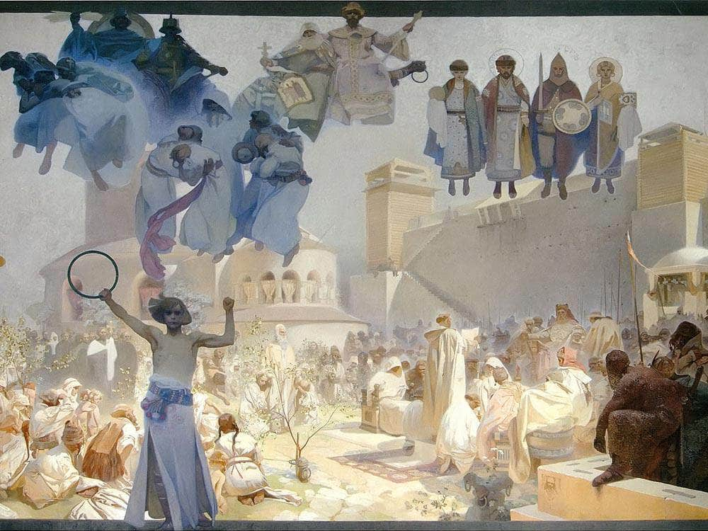 The Introduction Of The Slavonic Liturgy By Alphonse Mucha