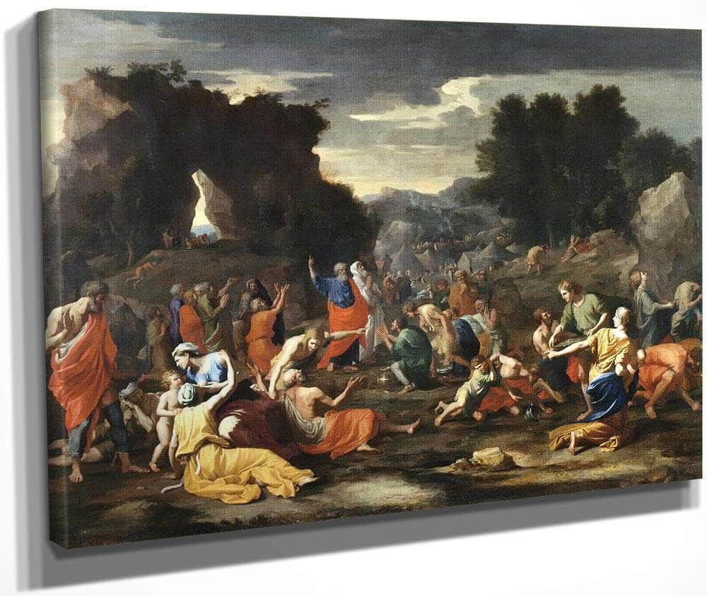 The Israelites Gathering Manna By Nicholas Poussin
