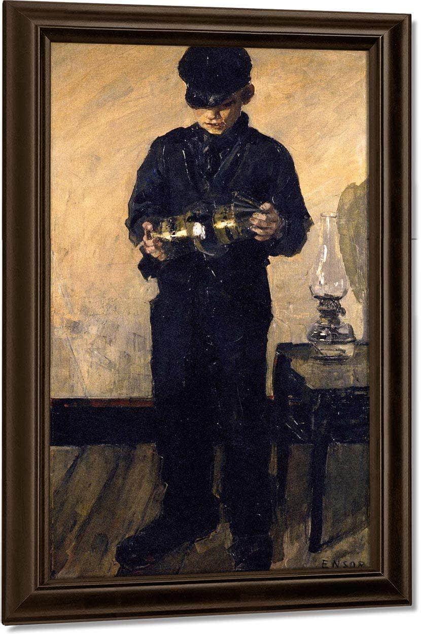 The Lamp Lighter By James Ensor