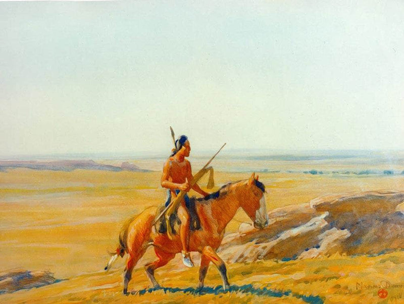 The Lone Warrior By Maynard Dixon
