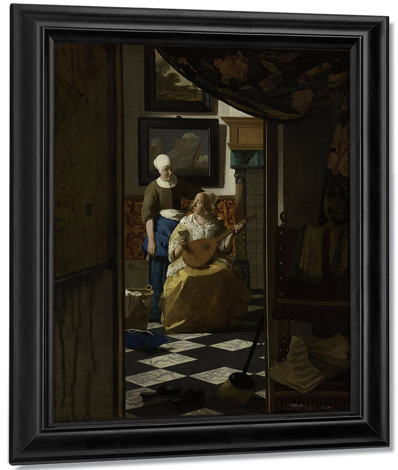 The Love Letter 1670 By Johannes Vermeer
