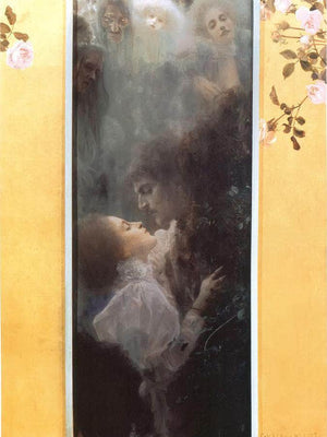 The Love By Gustav Klimt