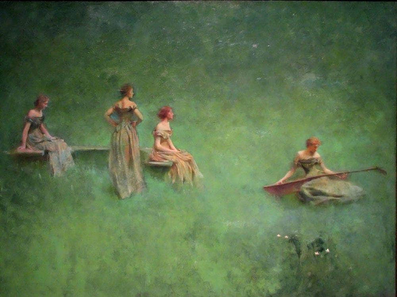 The Lute By Thomas Wilmer Dewing