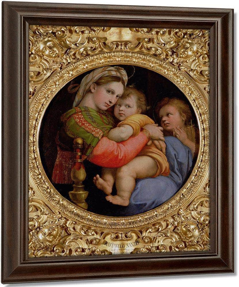 The Madonna Of The Chair By Raphael