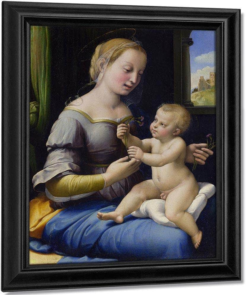The Madonna Of The Pinks ('La Madonna Dei Garofani') By Raphael