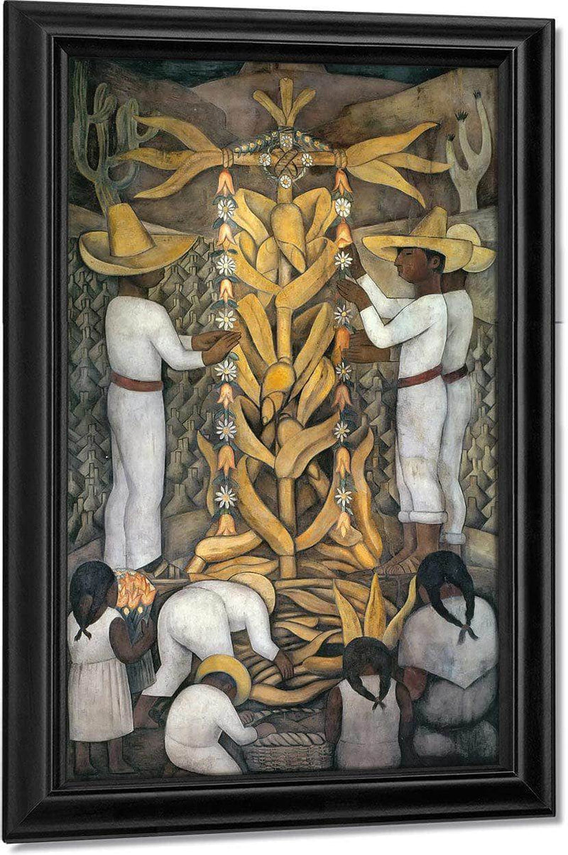 The Maize Festival By Diego Rivera
