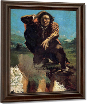 The Man Made Mad With Fear By Gustave Courbet