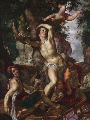The Martyrdom Of Saint Sebastian By Joachim Wtewael