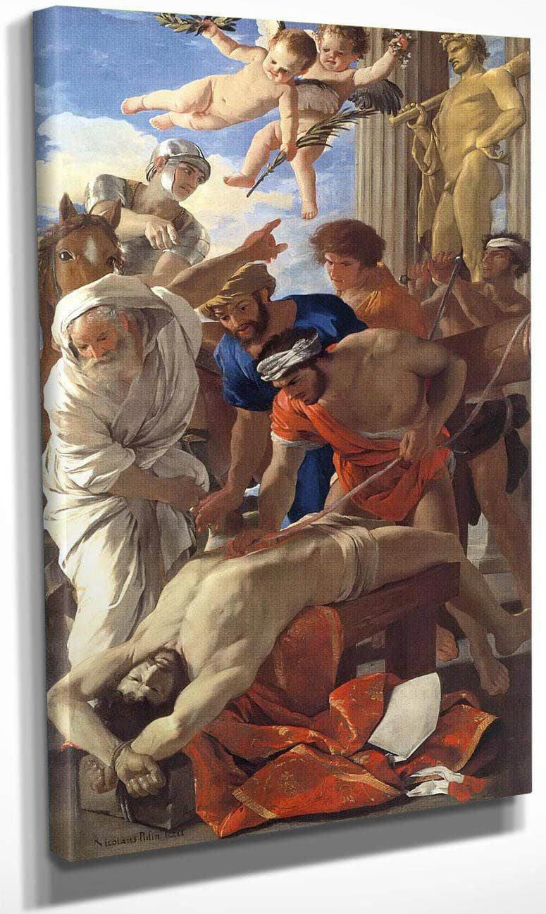 The Martyrdom Of St Eramus By Nicholas Poussin