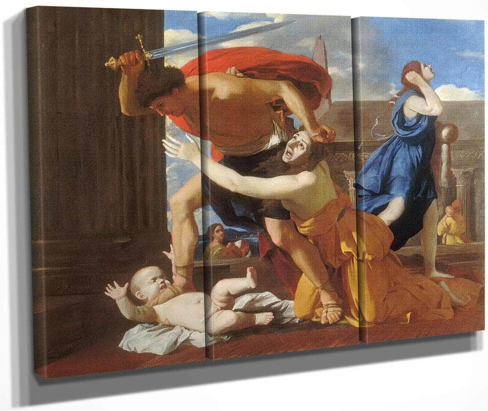 The Massacre Of The Innocents Ii By Nicholas Poussin