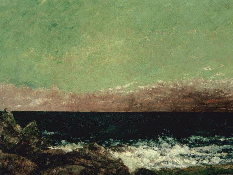 The Mediterranean By Gusave Courbet