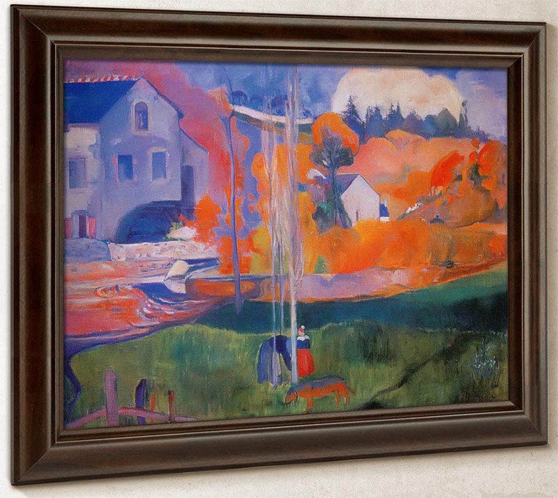 The Mill In Pont Aven By Paul Gauguin