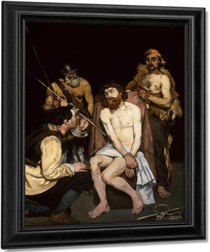 The Mocking Of Christ By Manet Edouard