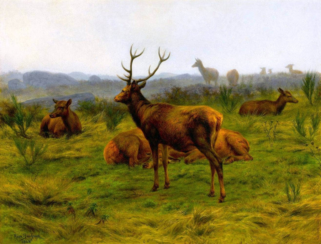 The Monarch Of The Herd Painting Rosa Bonheur Canvas Art