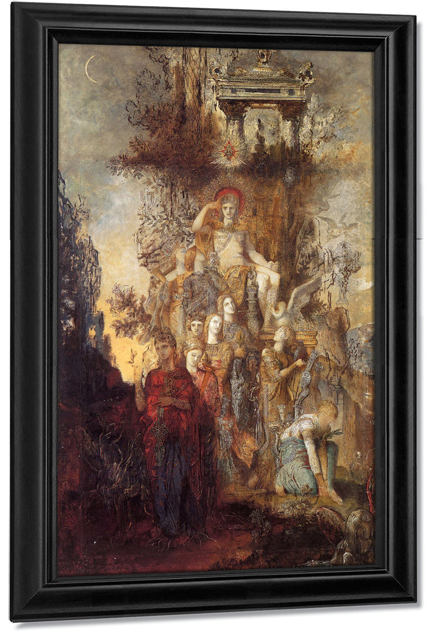 The Muses Leaving Their Father Apollo 1868 By Gustave Moreau