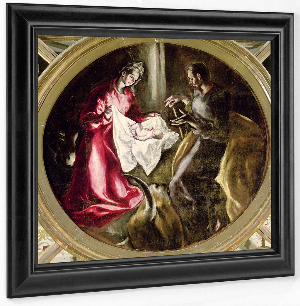 The Nativity 1587 1614 (Oil On Canvas) By El Greco