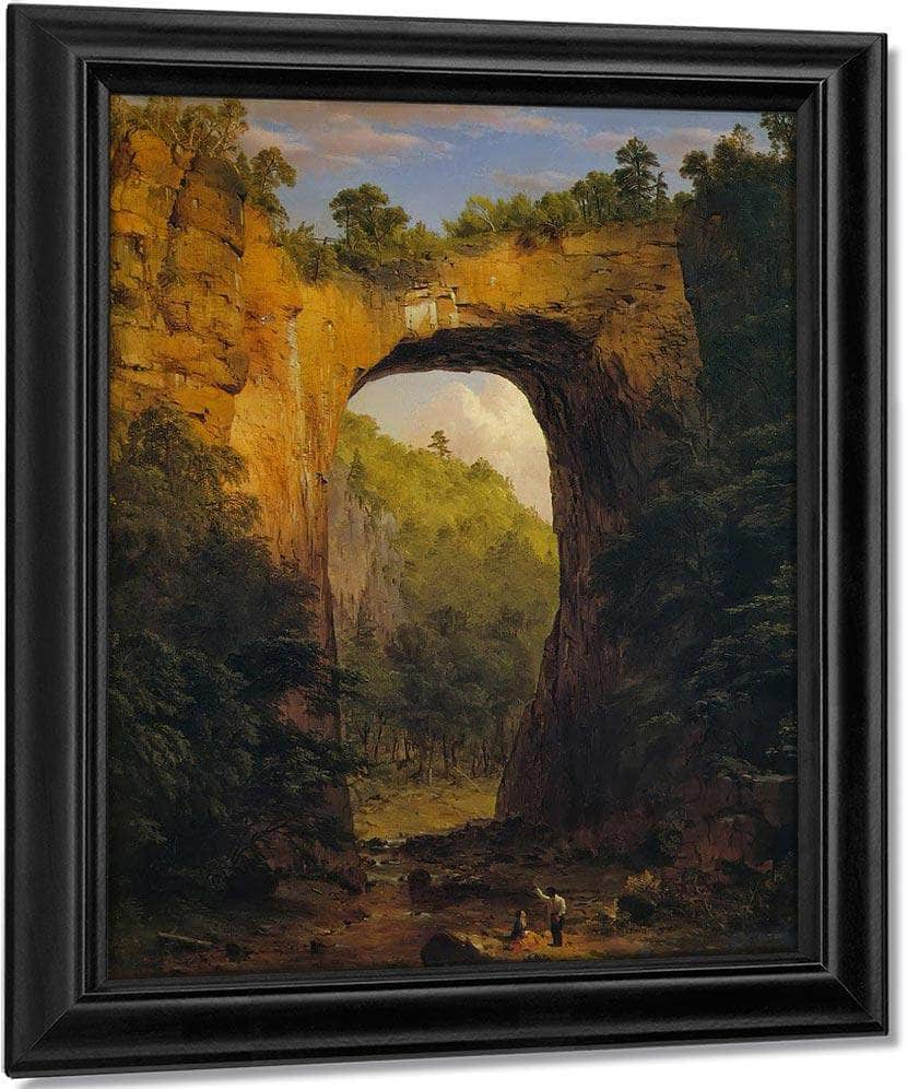 The Natural Bridge Virginia By Fredric Edwin Church