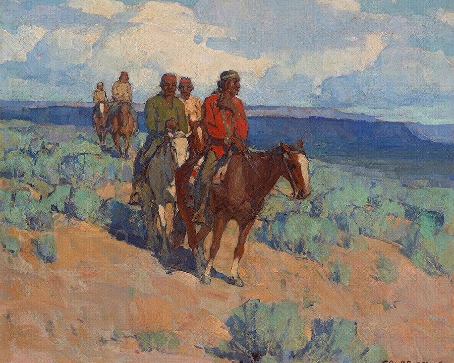The Navajos By Edgar Payne