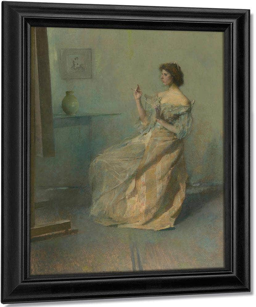 The Necklace By Thomas Wilmer Dewing