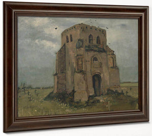 The Old Church Tower At Nuenen ('The Peasants' Churchyard') By Vincent Van Gogh