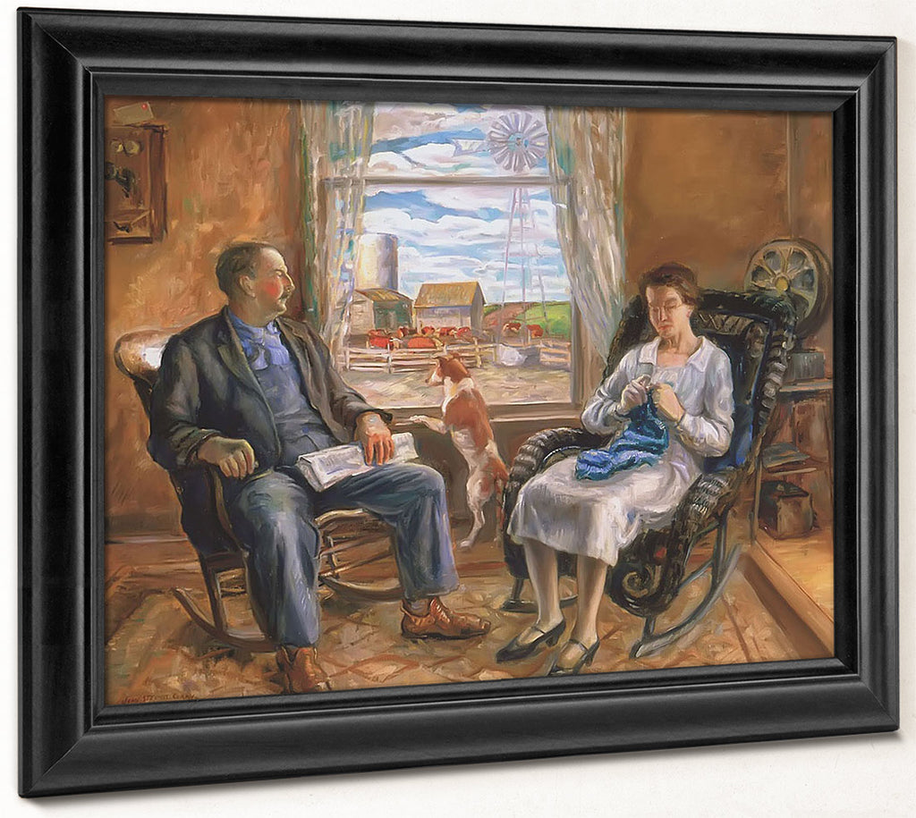The Old Folks (Mother And Father) By John Steuart Curry