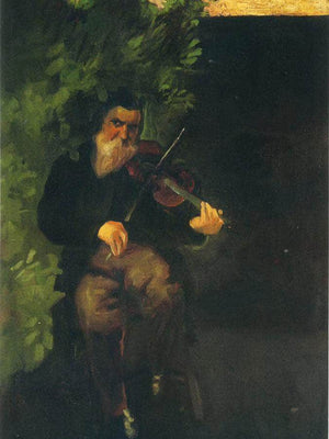 The Old Violonist By August Macke
