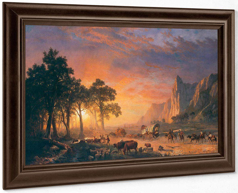 The Oregon Trail By  Bierstadt Albert