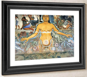 The Origin Of Human Life Symbolized By A Womman Of Asian Race By Diego Rivera