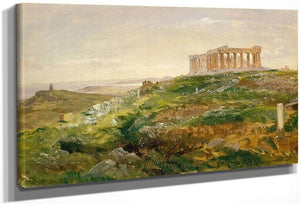 The Parthenon And The Acropolis Athens By Frederic Edwin Church