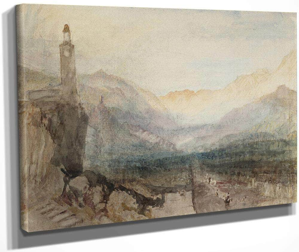 The Pass Of The Splugen  Sample Study By Joseph Mallord William Turner