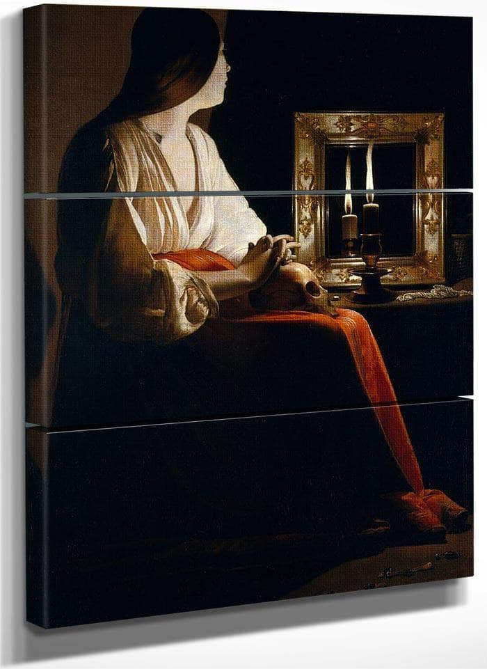 The Penitent Magdalene 1640 By Georges De La Tour