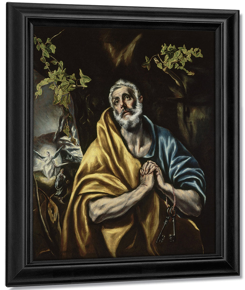 The Penitent Saint Peter By El Greco