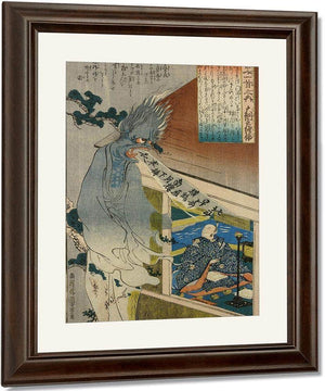 The Poet Dainagon Sees An Apparition 1860 By Utagawa Kuniyoshi