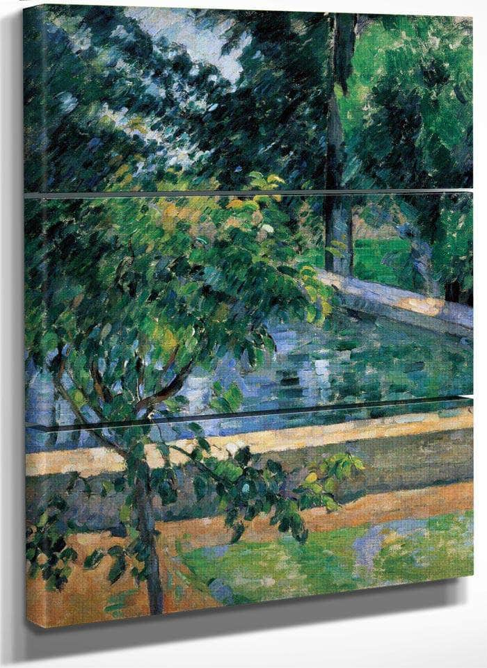 The Pool At Jas De Bouffan By Cezanne Paul