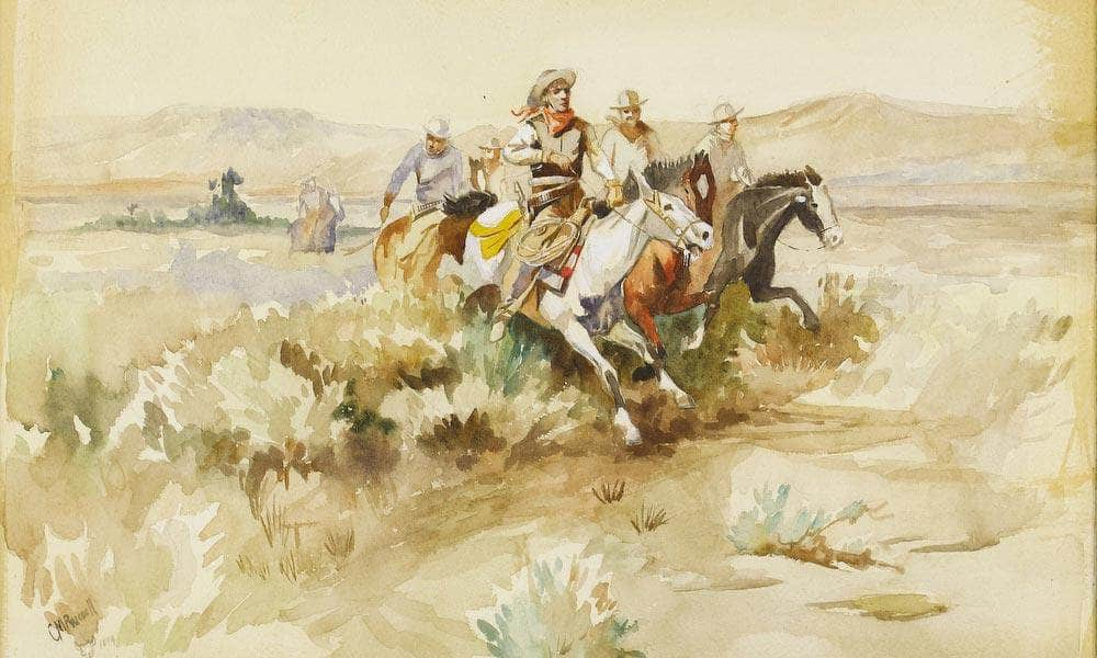 The Posse 1899 By Charles Marion Russell