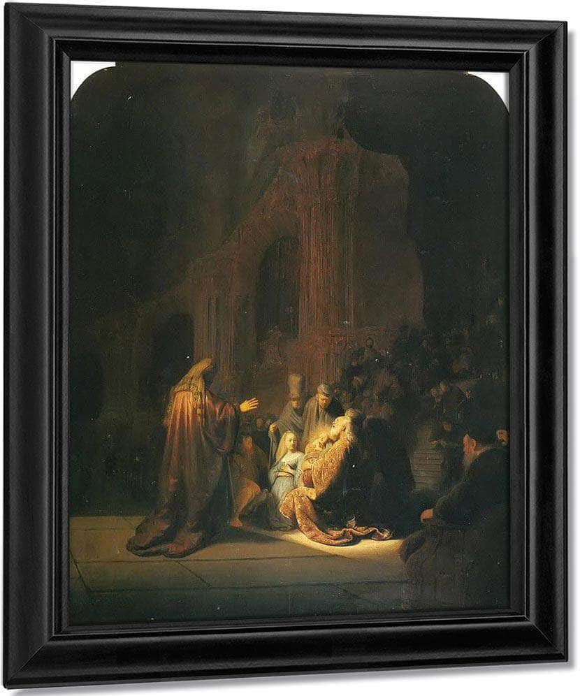 The Presentation Of Jesus In The Temple 1631 By Rembrandt