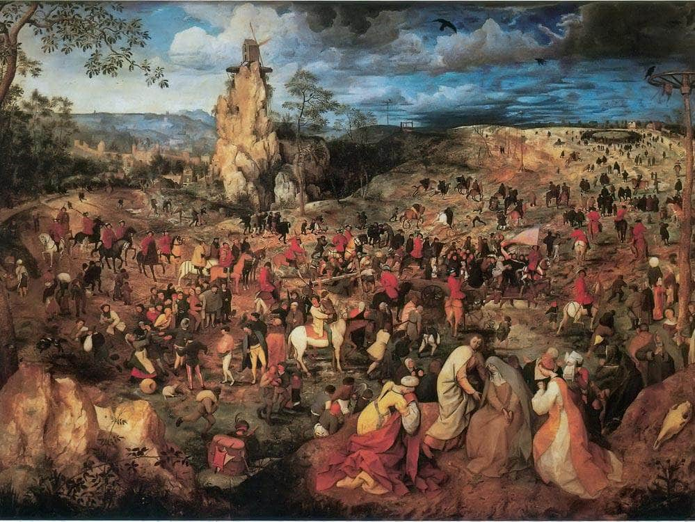 The Procession To Calvary 1564 By Pieter Bruegel