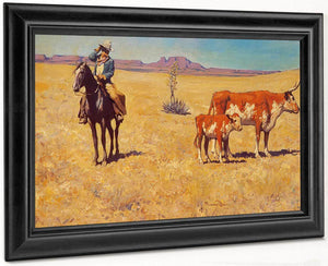 The Puzzled Cowboy By Maynard Dixon
