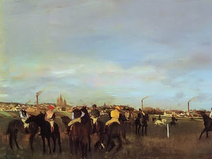 The Races Before The Stsrt By Edgar Degas