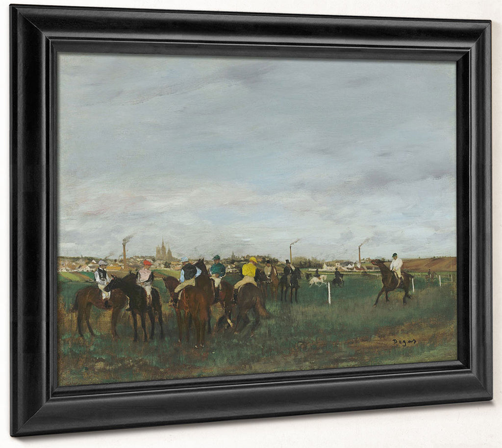 The Races By Edgar Degas