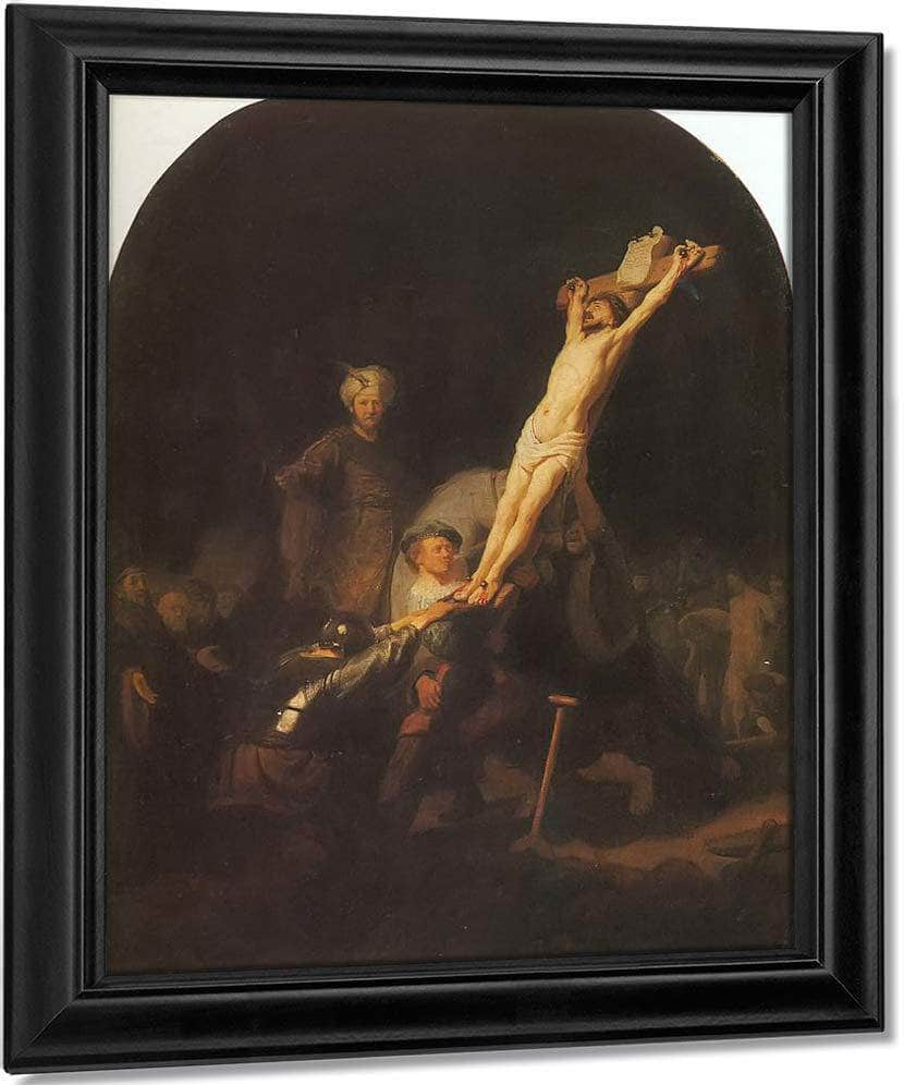 The Raising Of The Cross By Rembrandt