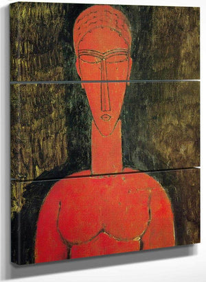 The Red Bust 1913 By Amedeo Modigliani