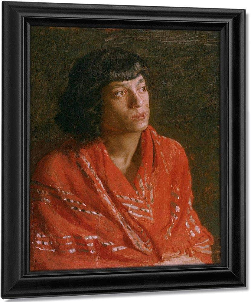 The Red Shawl By  Eakins Thomas