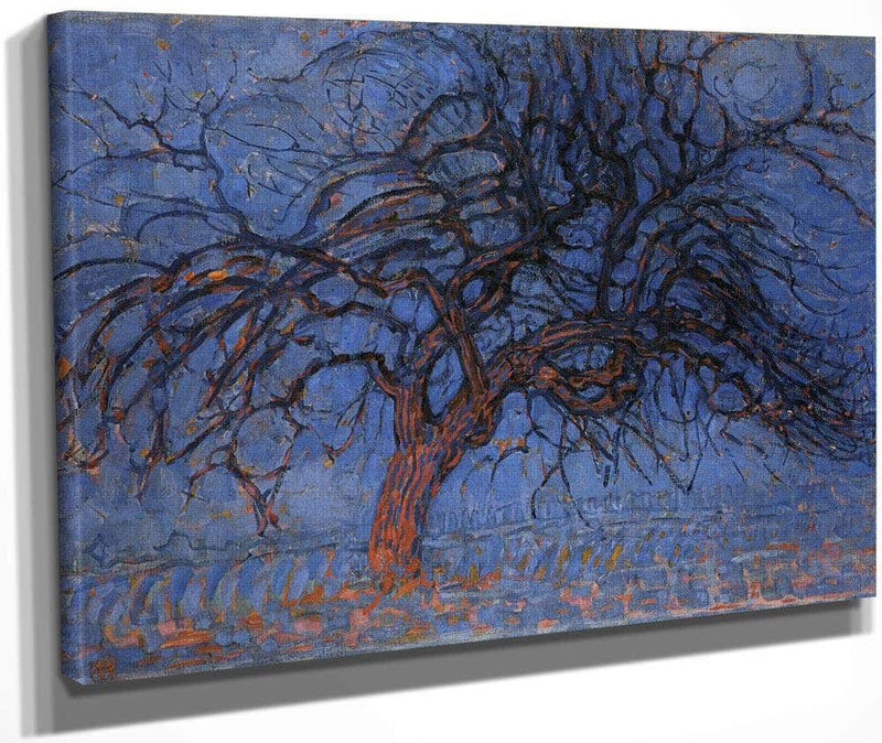 The Red Tree 1908 1910 Oil On Canvas 700X990Mm Haags Gemeentenmuseum Hague By Piet Mondrian