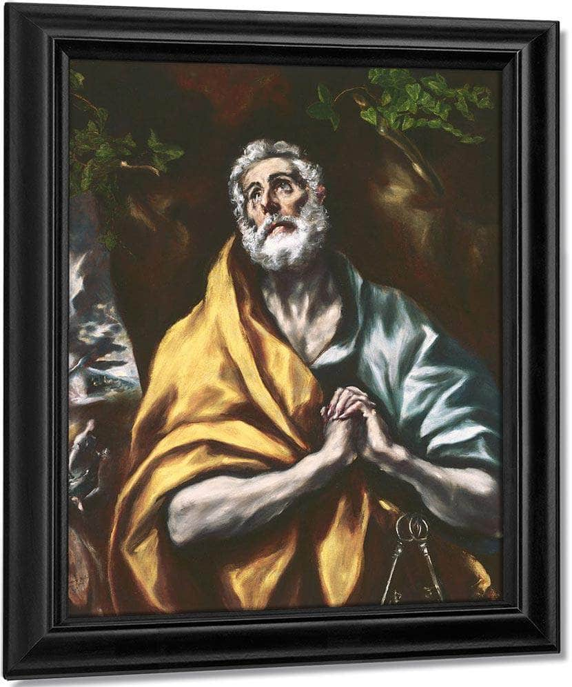 The Repentant St. Peter By El Greco