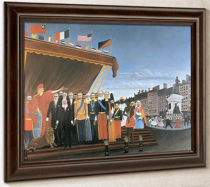 The Representatives Of Foreign Powers Coing To Salute The Republic A Token Of Peace  1907 By Henri Rousseau