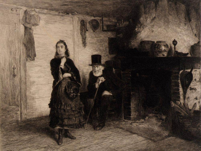 The Reprimand By Eastman Johnson